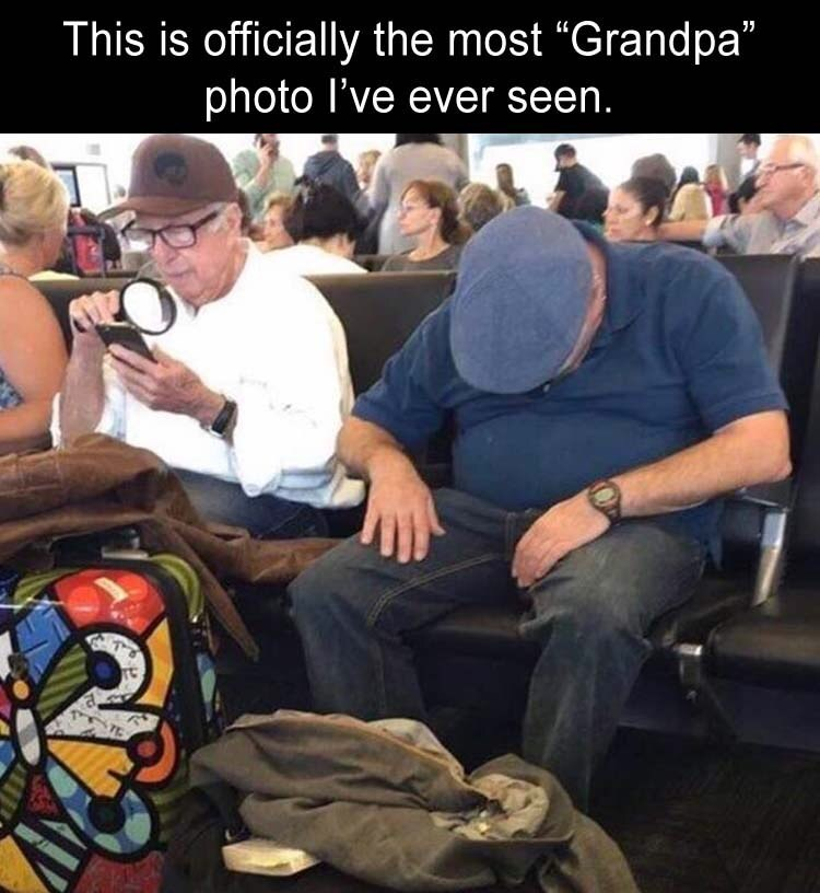 """Photo caption - This is officially the most """"Grandpa"""" photo I've ever seen."""
