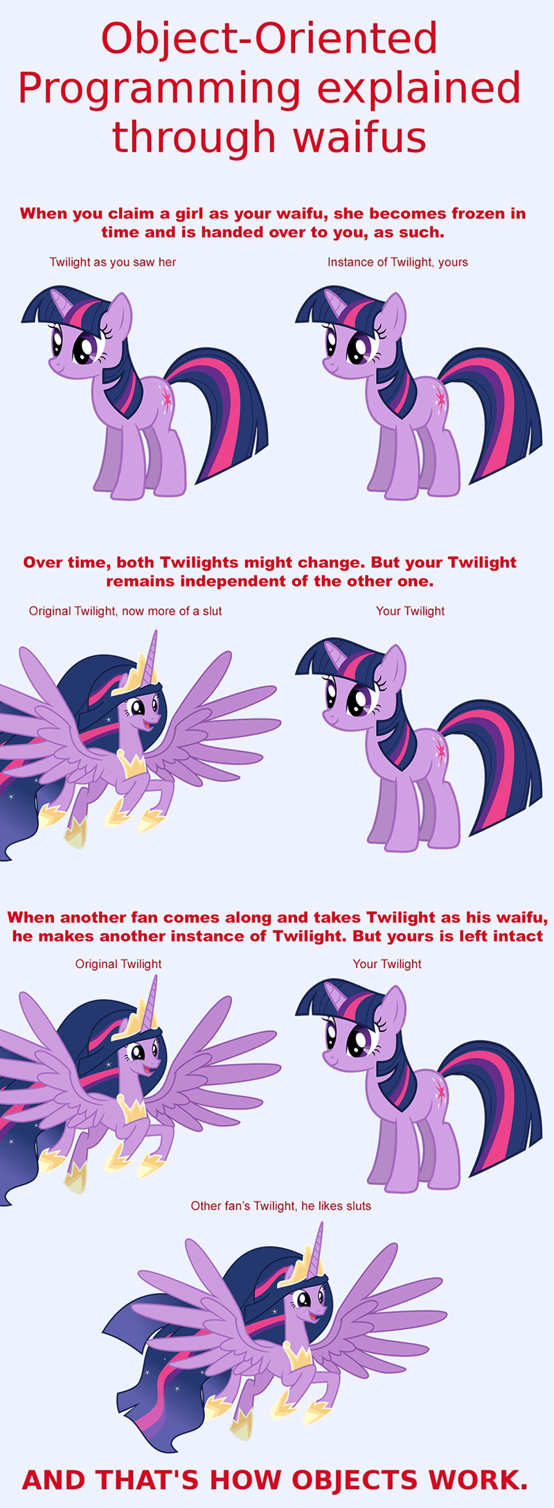twilight sparkle object-oriented programming explained through waifus ponify the last problem - 9391964416
