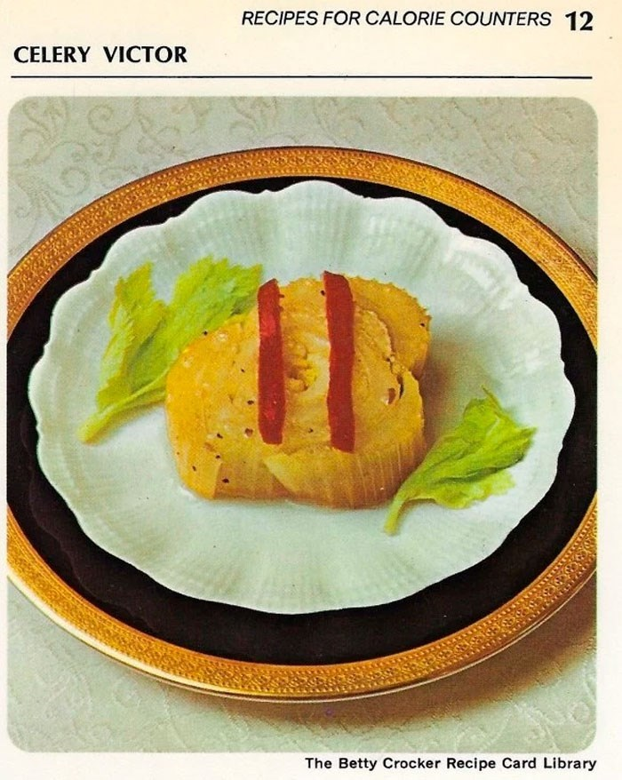 Food - RECIPES FOR CALORIE COUNTERS 12 CELERY VICTOR The Betty Crocker Recipe Card Library