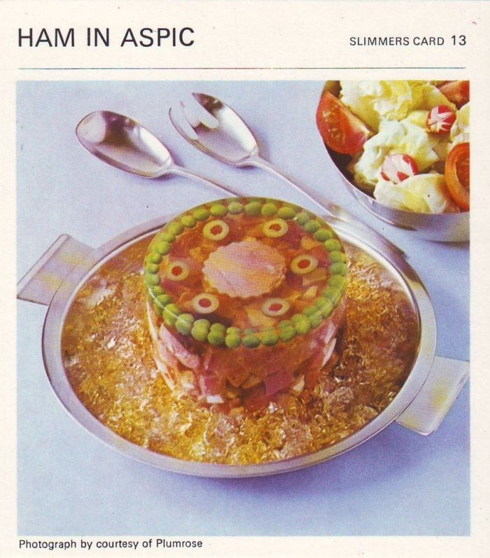 Food - HAM IN ASPIC SLIMMERS CARD 13 Photograph by courtesy of Plumrose