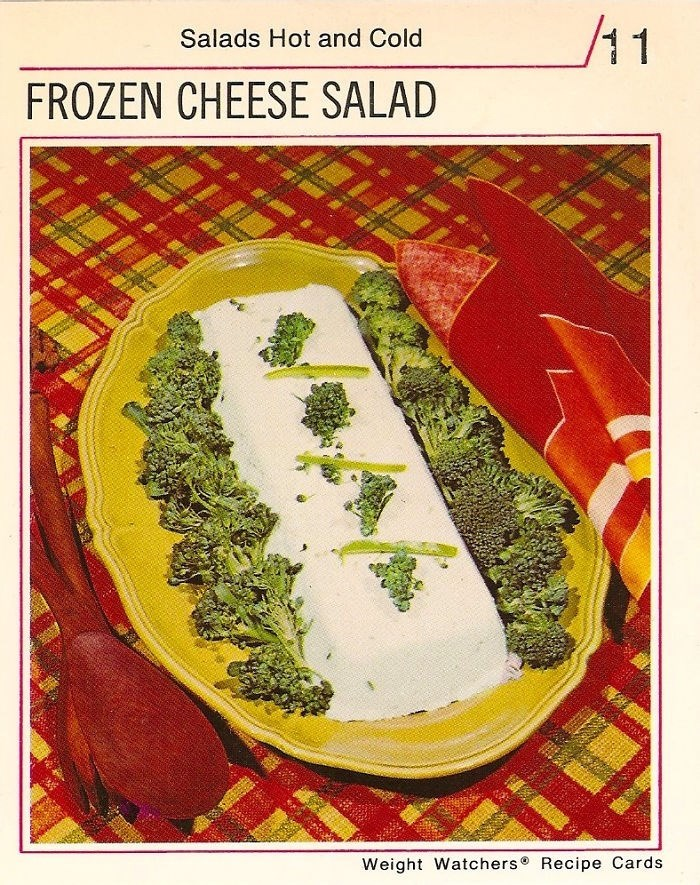 Cuisine - /11 Salads Hot and Cold FROZEN CHEESE SALAD Weight Watchers Recipe Cards