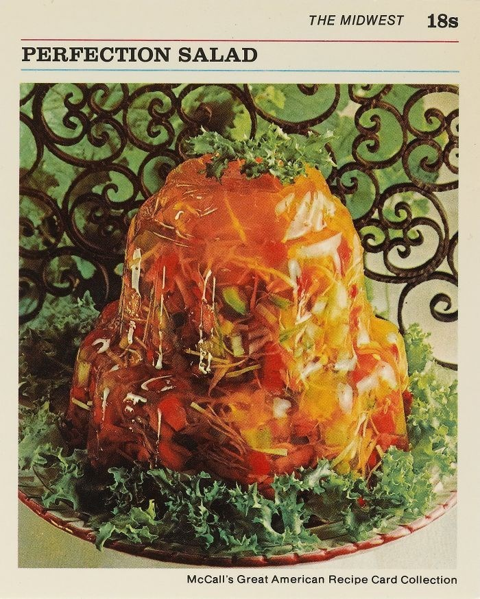 Organism - 18s THE MIDWEST PERFECTION SALAD McCall's Great American Recipe Card Collection