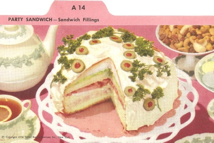 Food - A 14 PARTY SANDWICH-Sandwich Fillings Coppright 19s Temd Reestitute, Inc New York