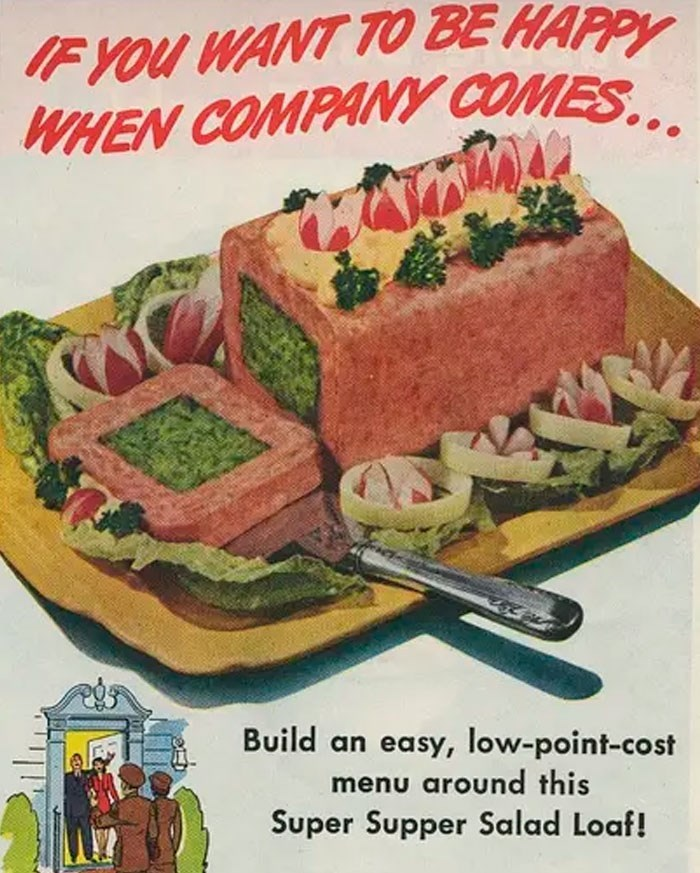 Dish - IF YOU WANT TO BE HAPPY WHEN COMPANY COMES Build an easy, low-point-cost menu around this Super Supper Salad Loaf!