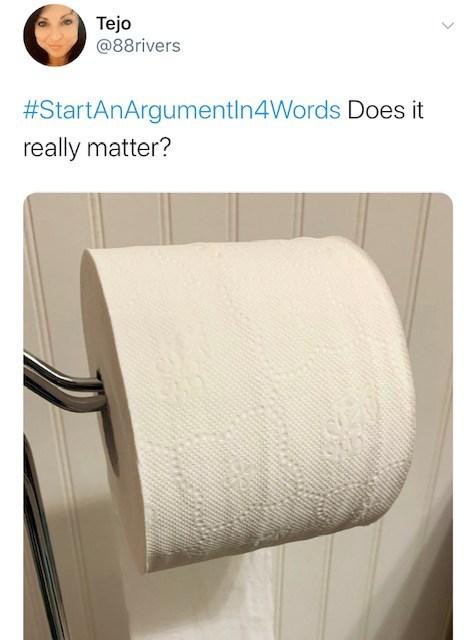 Paper towel holder - Tejo @88rivers #StartAnArgtementIn4Words Does it really matter?
