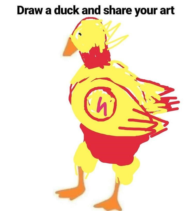 Yellow - Draw a duck and share your art
