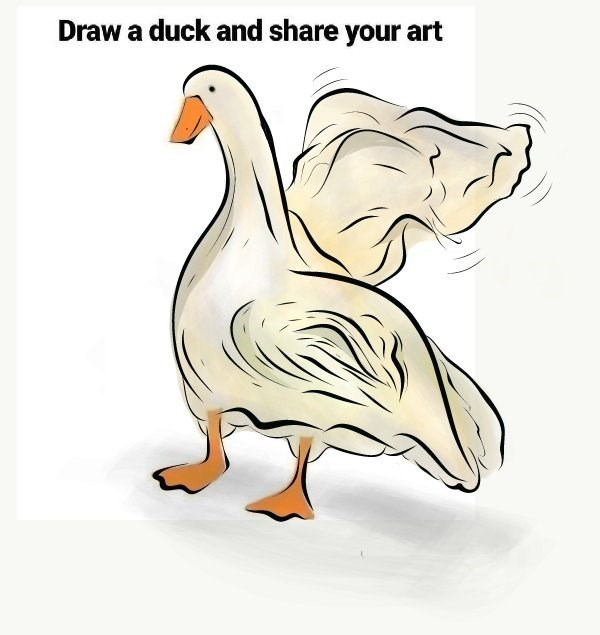 Bird - Draw a duck and share your art