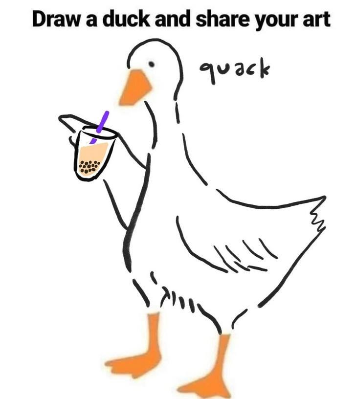 Bird - Draw a duck and share your art quack