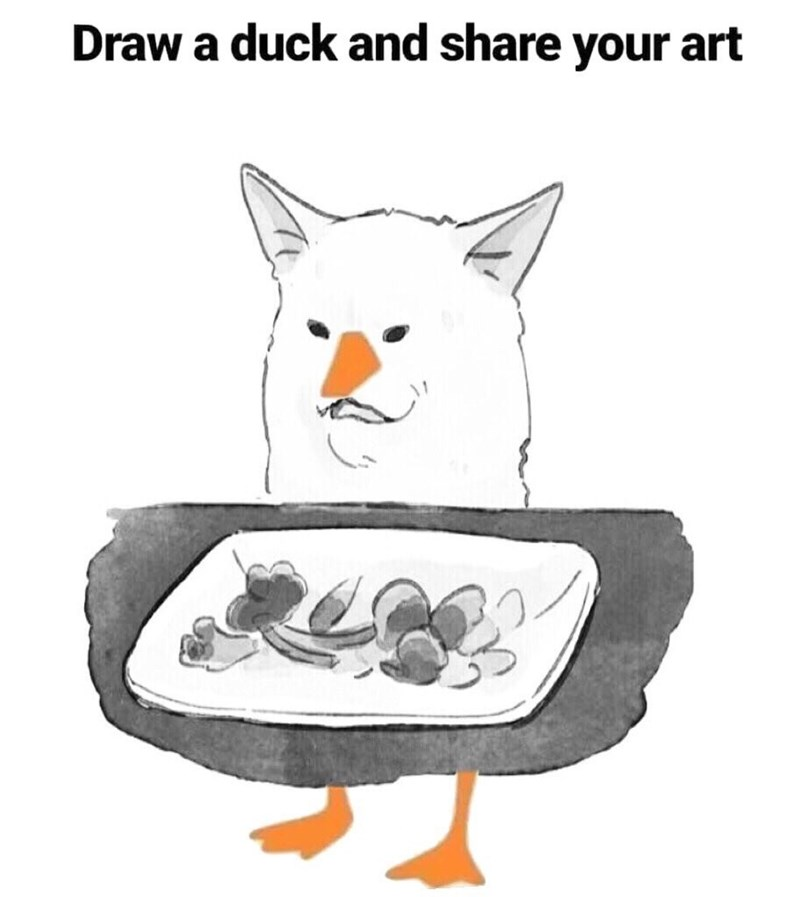 Cartoon - Draw a duck and share your
