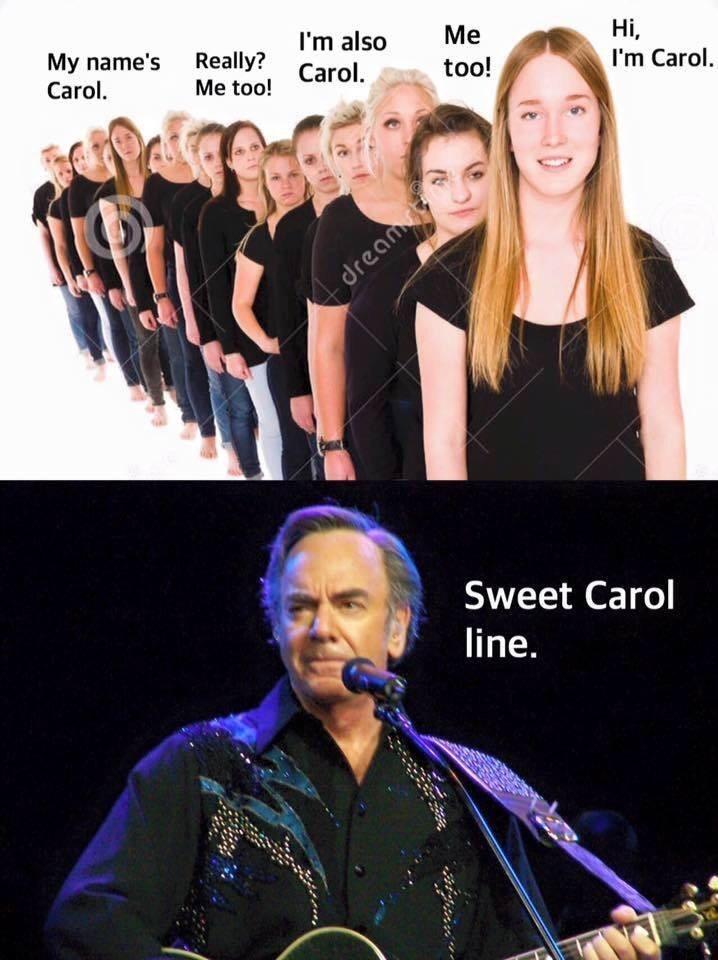 Music artist - I'm also Ме too! Hі, My name's Really? Carol. Carol. I'm Carol. Me too! dream Sweet Carol line.