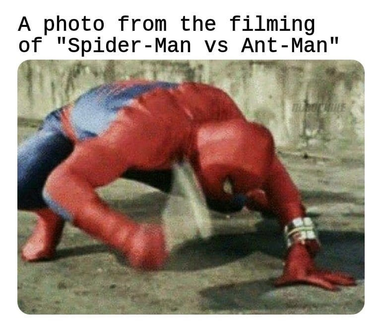 """Muscle - A photo from the filming of """"Spider-Man vs Ant-Man"""" LE"""