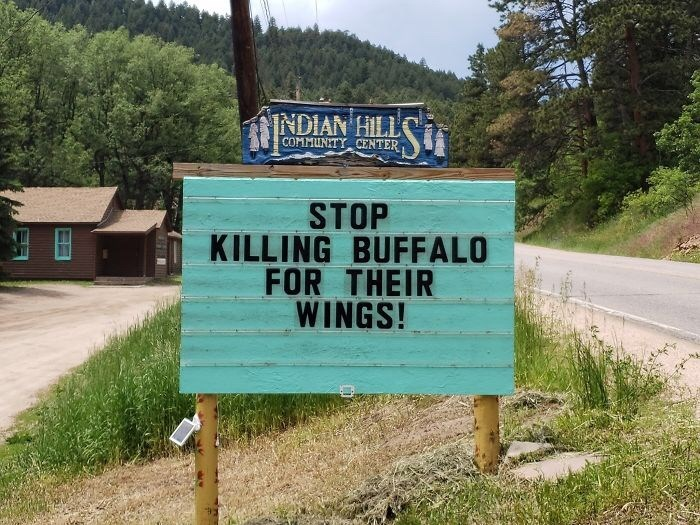 Motor vehicle - NDIAN HILL COMMUNITY CENTER STOP KILLING BUFFALO FOR THEIR WINGS!