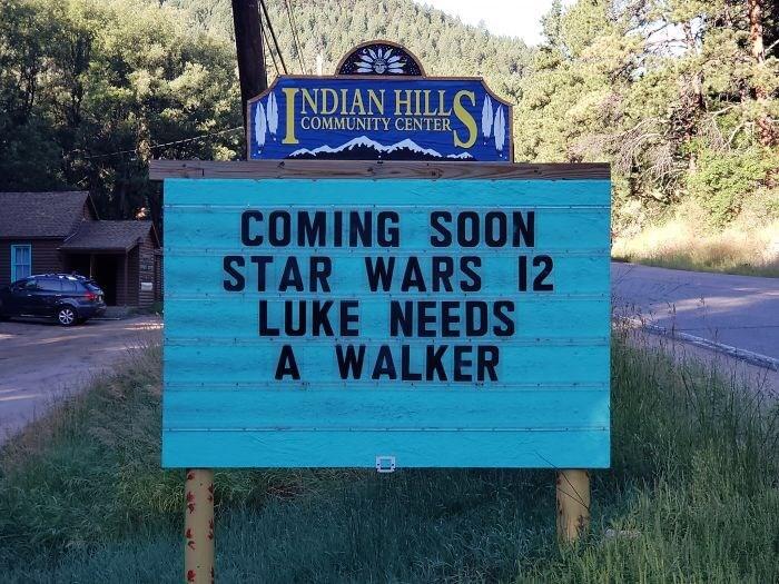 Motor vehicle - TNDIAN HILL COMMUNITY CENTER COMING SOON STAR WARS 12 LUKE NEEDS A WALKER