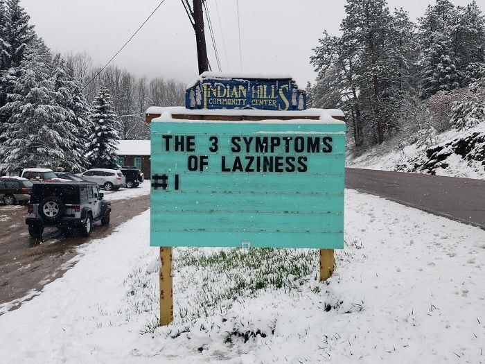 Snow - TNDIAN HILL COMMUNITY CENTER THE 3 SYMPTOMS OF LAZINESS