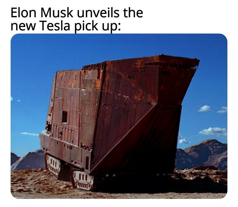 Vehicle - Elon Musk unveils the new Tesla pick up: