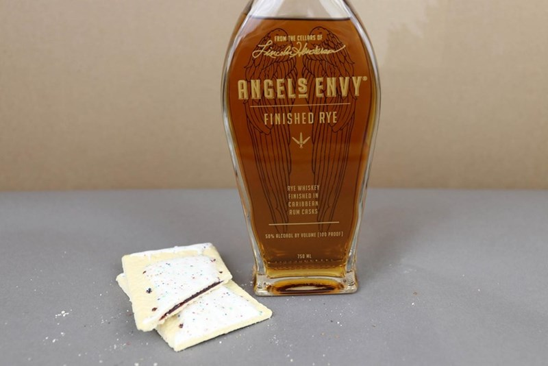 Drink - FROM THE CELLORS OF ANGELS ENVY FINISHED RYE RYE WHISKEY FINISHED IN CARIBBERN RUM CASKS 50% ALCOHOL BY VOLUME [100 PROOF 750 M