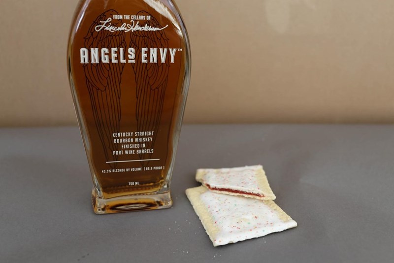Drink - FROM THE CELLARS OF ANGELS ENVY KENTUCKY STRAIGHT BOURBON WHISKEY FINISHED IN PORT WINE BARRELS 43.3% ALCONOL BY VOLUME [86.6 PROOF 750 ML