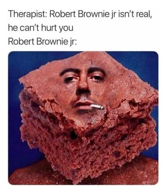 Rock - Therapist: Robert Brownie jr isn't real, he can't hurt you Robert Brownie jr: