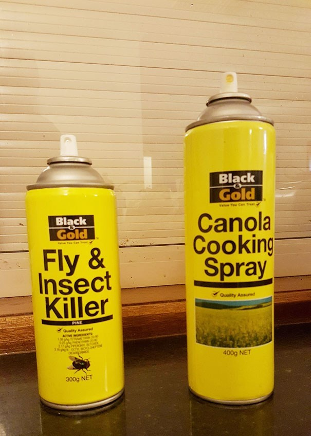 Yellow - Black Gold Black Gold Canola Cooking Spray Fly & Insect Killer Quality Assured PINE Quaity Assured ACTME NpNTS 400g NET 300g NET