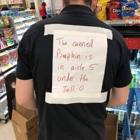 T-shirt - OP Dom Dorito EN The Canned Pompkin is in aisle S under the Jell-0