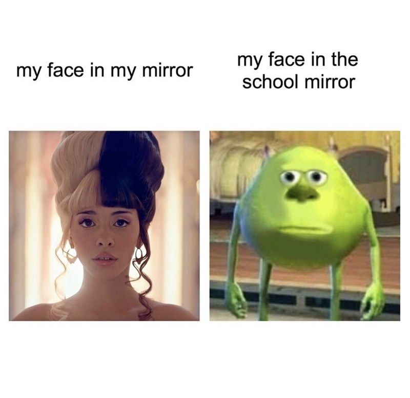 Face - my face in the school mirror my face in my mirror