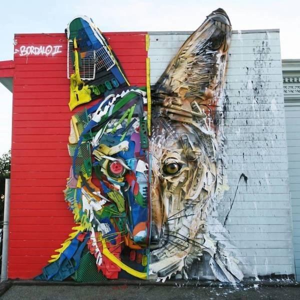 Street art - BORDALO TE