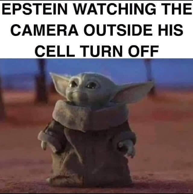 Yoda - EPSTEIN WATCHING THE CAMERA OUTSIDE HIS CELL TURN OFF