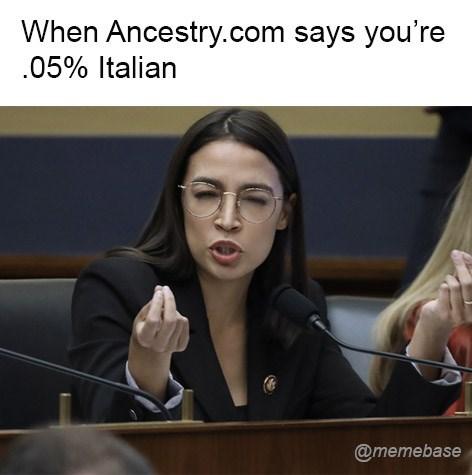 Spokesperson - When Ancestry.com says you're 05% Italian @memebase