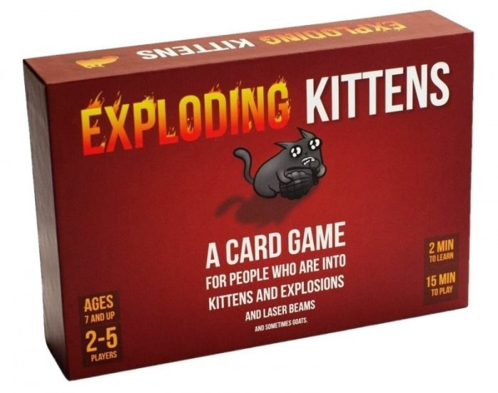Kettlebell - EXPLODING KITTENS A CARD GAME FOR PEOPLE WHO ARE INTO 2 MIN TO LEARN AGES 7 AND UP KITTENS AND EXPLOSIONS 2-5 15 MIN AND LASER BEAMS TO PLAY AND SOMETIMES GOATS PLAYERS
