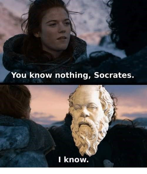 Human - You know nothing, Socrates. I know.