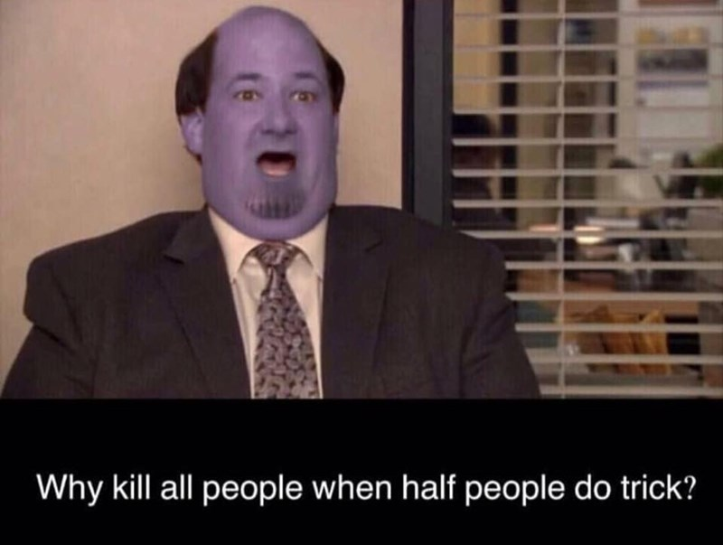 Facial expression - Why kill all people when half people do trick?