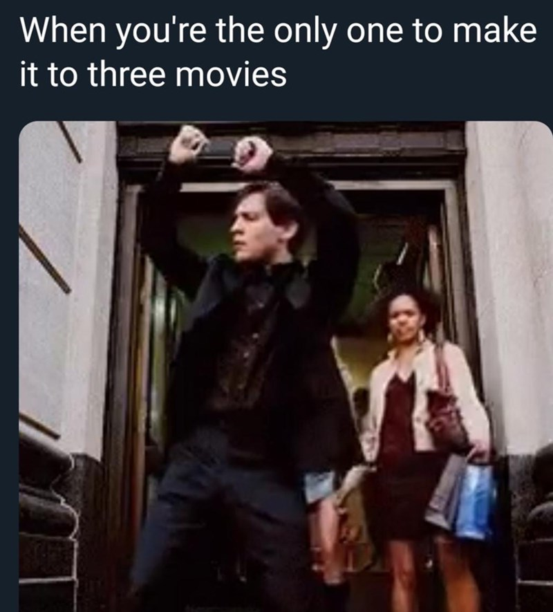 Photo caption - When you're the only it to three movies one to make