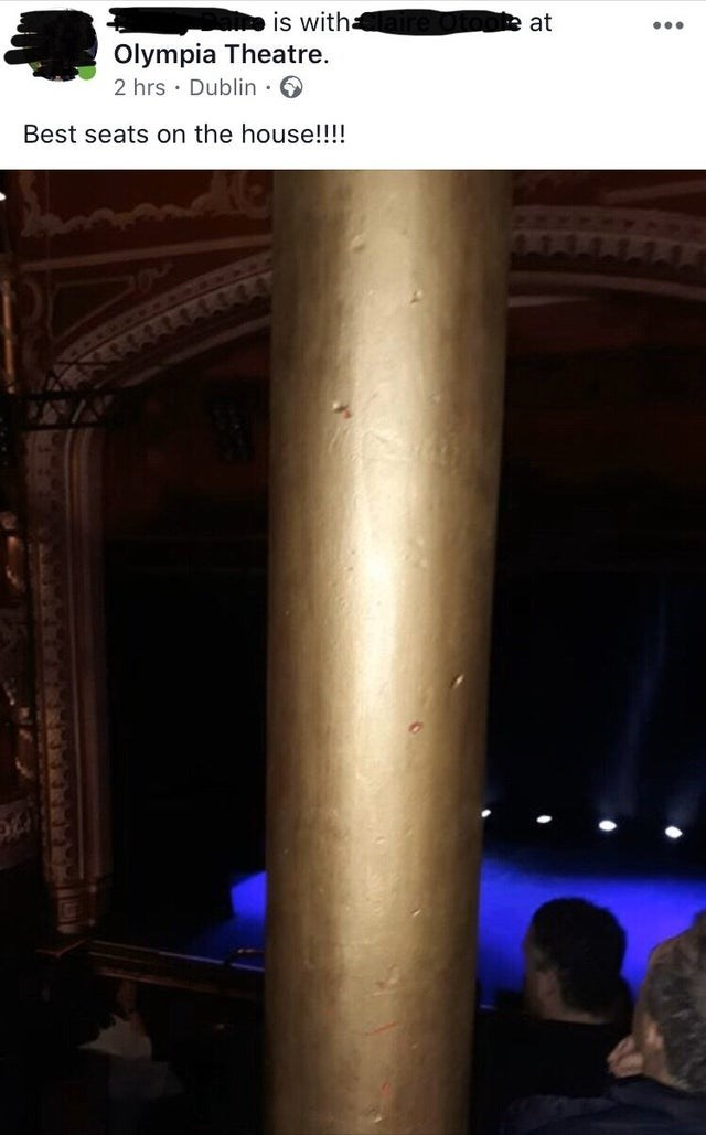 Column - is with Olympia Theatre 2 hrs Dublin at Best seats on the house!!!!