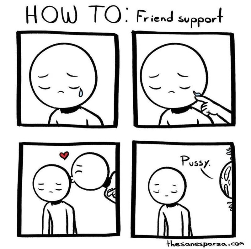 White - HOW TO: Friend support Pussy thesanesparza.com