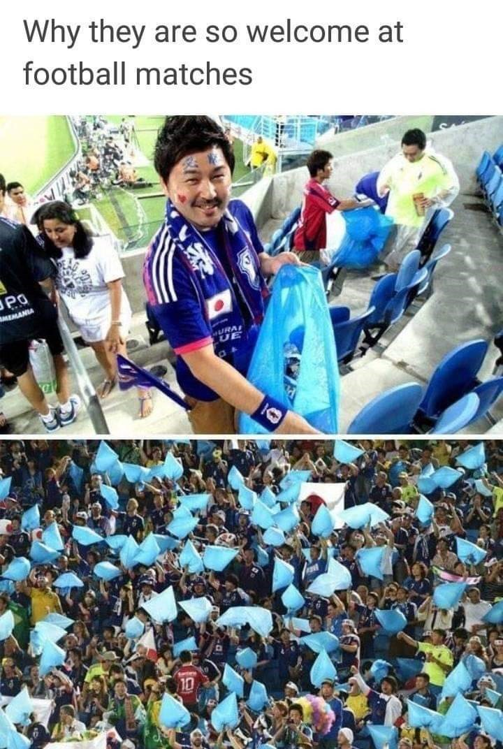 People - Why they are so welcome at football matches MEMANIA URA UE 10