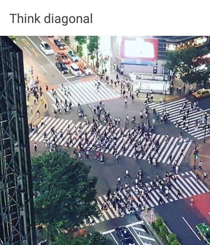 Crowd - Think diagonal