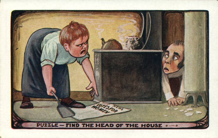 Cartoon - TA NEWS AOTES FOR WOMEN FIND THE HEAD OF THE HOUSE PUZZLE