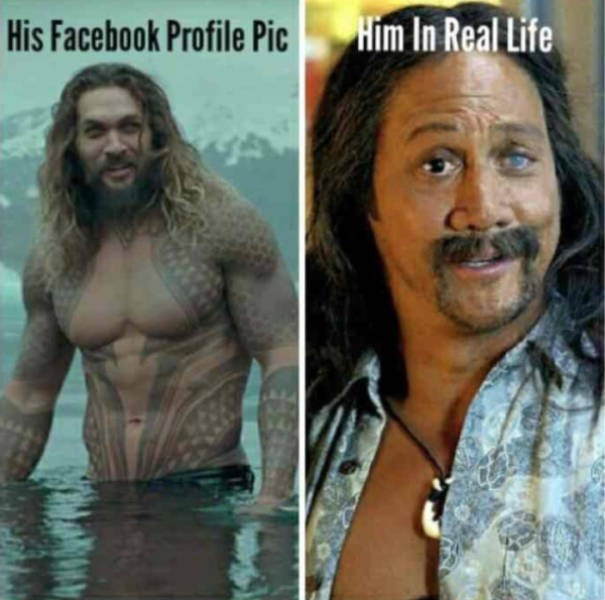 meme - Hair - Him In Real Life His Facebook Profile Pic