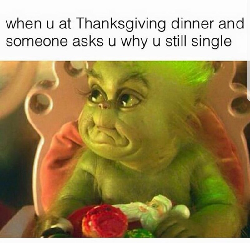 Cartoon - when u at Thanksgiving dinner and someone asks u why u still single