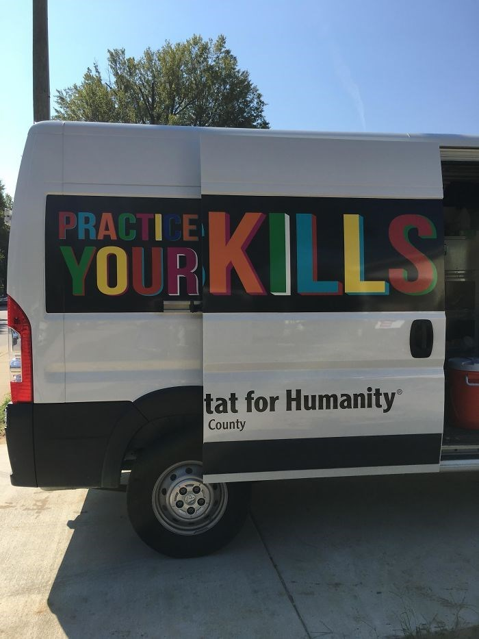 Motor vehicle - PRACTICE YOUR KILLS tat for Humanity County