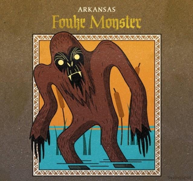 Illustration - ARKANSAS Fouhe Monster Sautngspot