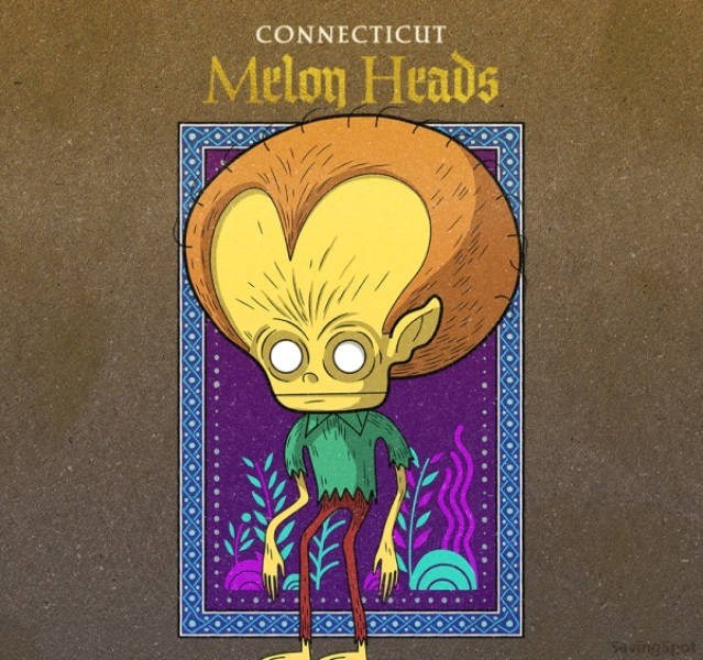 Cartoon - CONNECTICUT Melon Heads uingipet