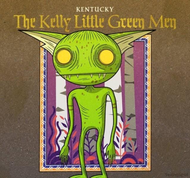 Green - KENTUCKY The Kelly Little Green Men Aungipet