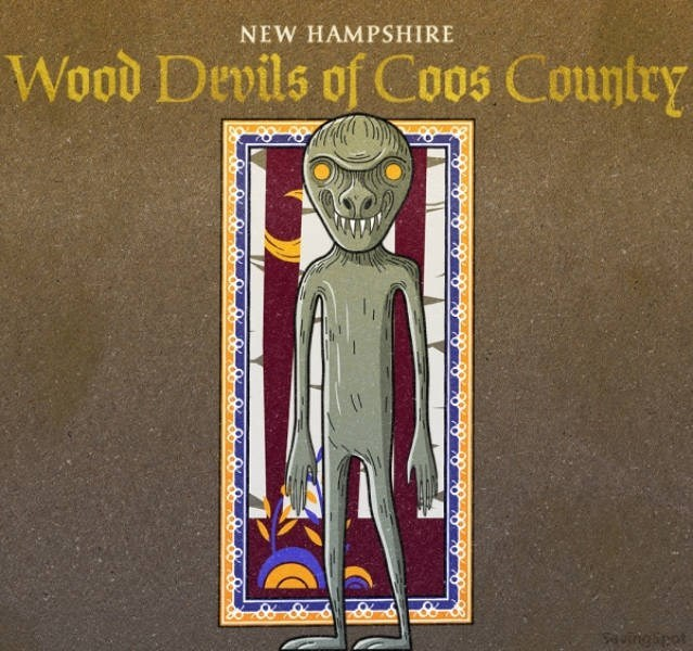 Text - NEW HAMPSHIRE Wood Devils of Coos Counlry uingipet