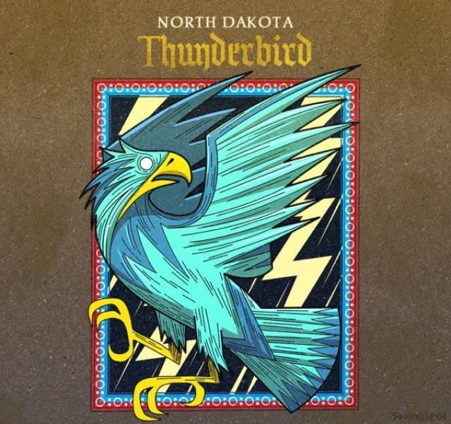 Book cover - NORTH DAKOTA Thunderbird 0:o: HO: o:o:o:o uingipet HO:O:O: CO:O:0:0:O