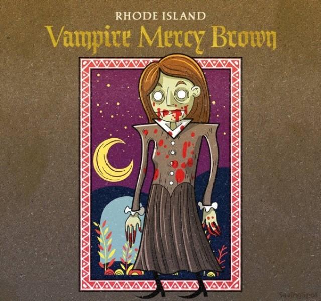 Text - RHODE ISLAND Vampire Mercy Brown uingipet