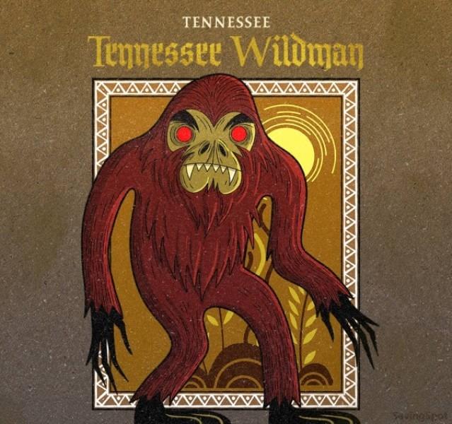 Illustration - TENNESSEE Temmessee Wildman uingipet