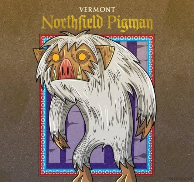 Cartoon - VERMONT Northfield Pigman H:O0O:o:O :0: O:o:O:0:0) O:o:O:0: uingipet O:O:0:0:O:0 :0:0:00:o:o:0:0:o:o:O