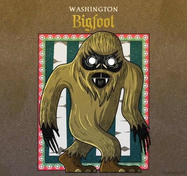 Fictional character - WASHINGTON Bigfoot uingipet