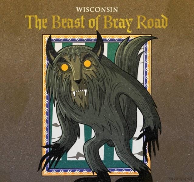 Illustration - WISCONSIN The Beast of Bray Road ngipot